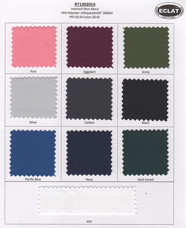 Interlock Non-Moss Color Card