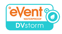 eVent Waterproof DVstorm logo