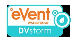 eVent Waterproof DVstorm logo